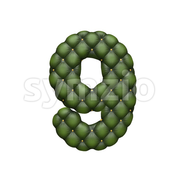 chesterfield number 9 - 3d digit Stock Photo
