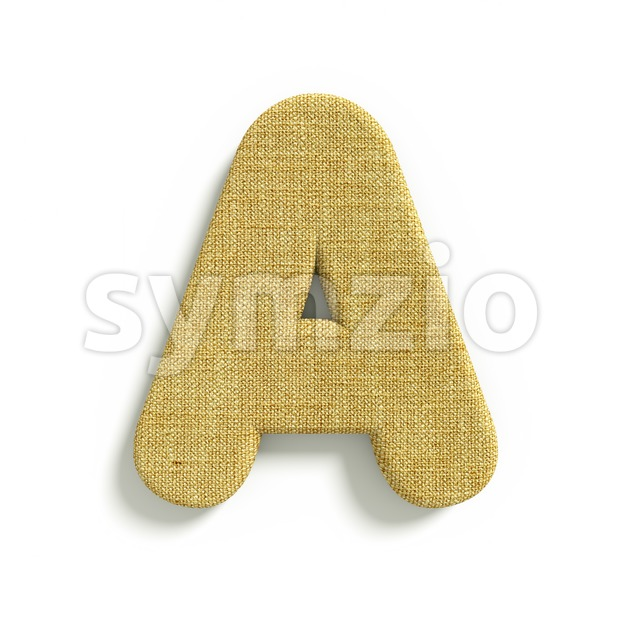 jute letter A - Capital 3d character Stock Photo