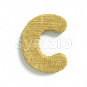 3d jute font C - Capital 3d letter Stock Photo