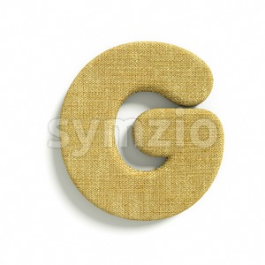 Upper-case Hessian character G - Capital 3d font Stock Photo