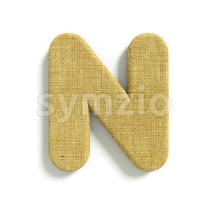 Hessian font N - Capital 3d letter Stock Photo