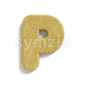 Upper-case Hessian character P - Capital 3d font Stock Photo