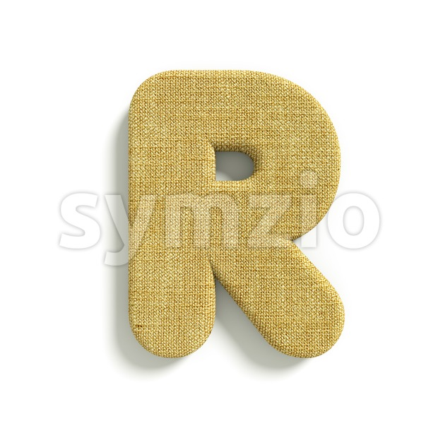 Hessian letter R - Uppercase 3d font Stock Photo