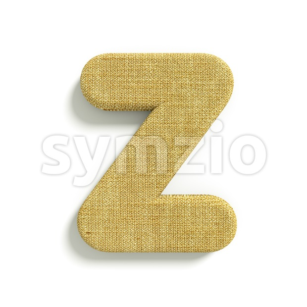 Hessian letter Z - Upper-case 3d font Stock Photo