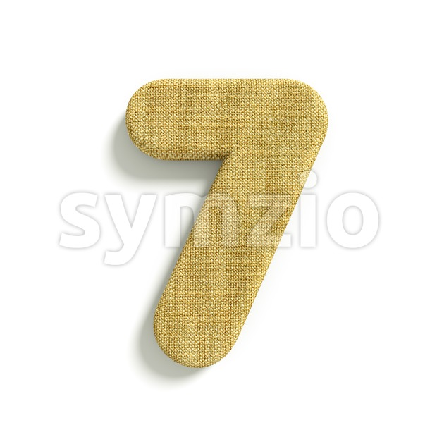 hessian fabric number 7 - 3d digit Stock Photo