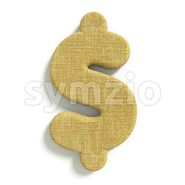 Hessian fabric dollar currency sign