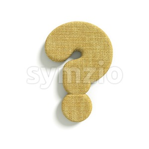 hessian fabric interrogation point - 3d sign Stock Photo