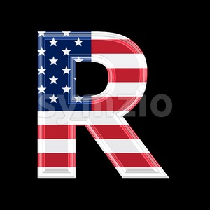 American letter R - Uppercase 3d font Stock Photo