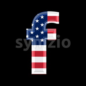 American letter F - Small 3d font Stock Photo
