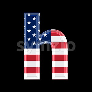 US font H - Lower-case 3d letter Stock Photo
