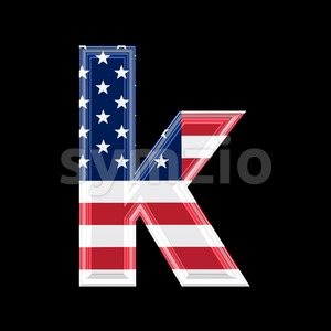 Lower-case US character K - Small 3d letter Stock Photo