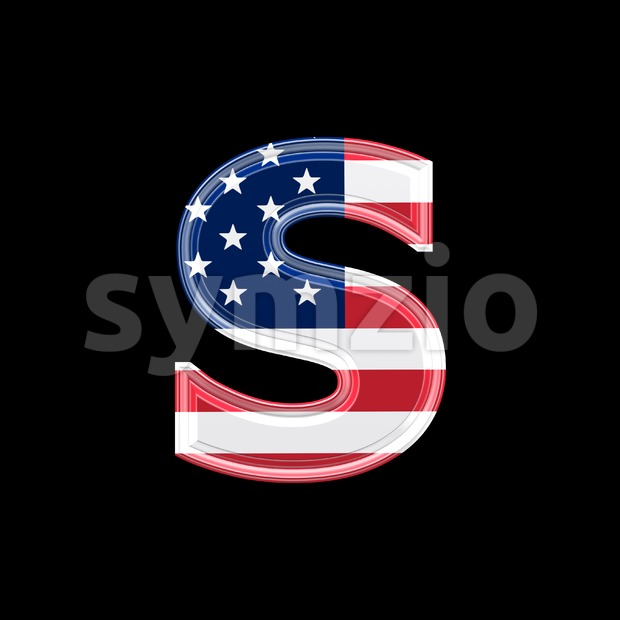 US letter S - Lowercase 3d font Stock Photo