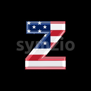 American 3d character Z - Lower-case 3d font Stock Photo