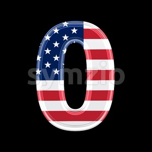 US number 0 - 3d digit Stock Photo
