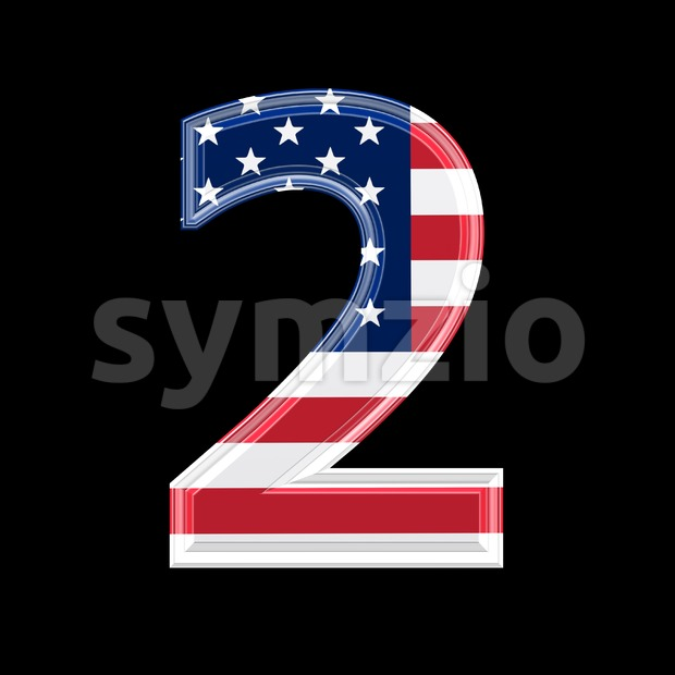 US digit 2 - 3d number Stock Photo