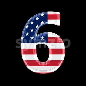 US digit 6 - 3d number Stock Photo