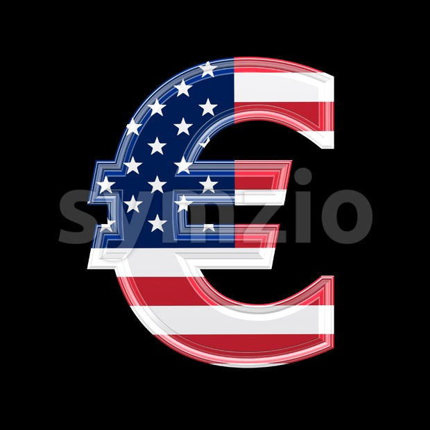 US euro currency sign - 3d business symbol Stock Photo