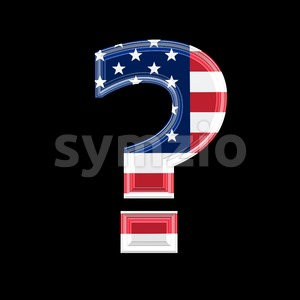 US interrogation point - 3d sign Stock Photo