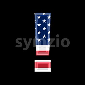 US exclamation point - 3d symbol Stock Photo