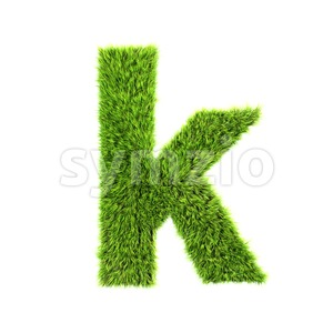 Lower-case herb character K - Small 3d letter Stock Photo