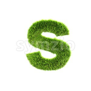 herb letter S - Lowercase 3d font Stock Photo