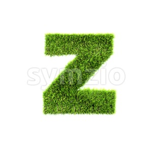 green herb 3d character Z - Lower-case 3d font Stock Photo