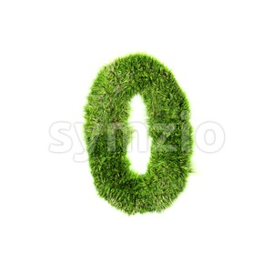 Grass number 0 - 3d digit Stock Photo