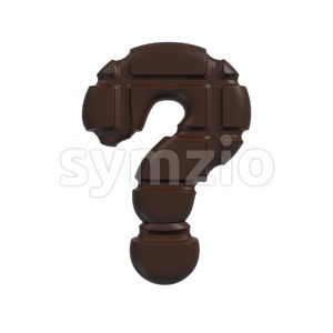 chocolate interrogation point - 3d sign Stock Photo