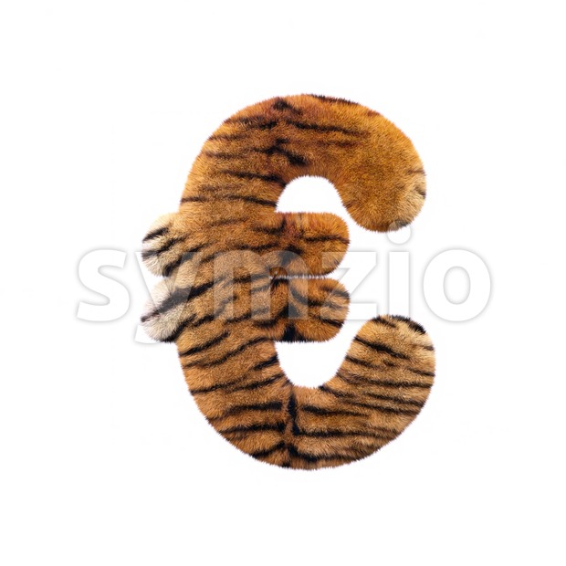 Tiger euro currency sign - 3d business symbol Stock Photo