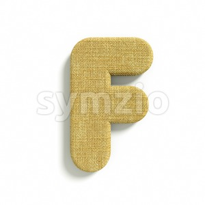 jute letter F - Upper-case 3d font Stock Photo