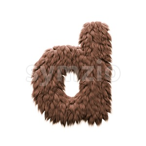 Monster letter D - Lowercase 3d font Stock Photo