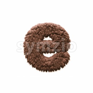 bigfoot 3d character E - Lower-case 3d letter Stock Photo