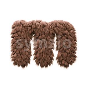 bigfoot 3d font M - Lowercase 3d letter Stock Photo