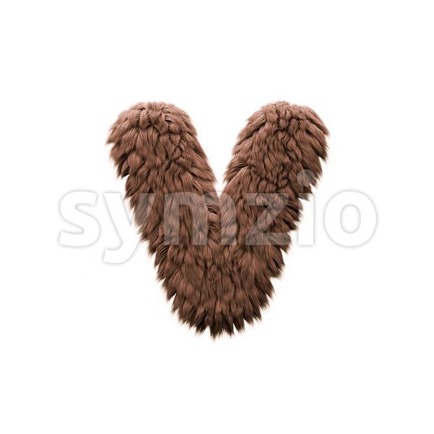 Lowercase yeti font V - Small 3d letter Stock Photo