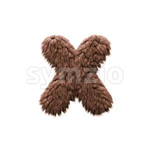yeti 3d font X - Small 3d letter Stock Photo