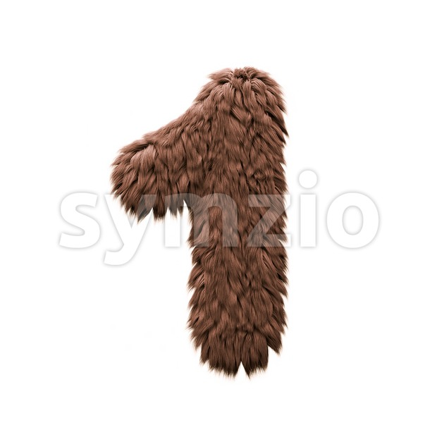 Monster number 1 - 3d digit Stock Photo
