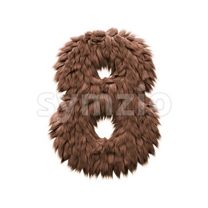 Monster digit 8 - 3d number Stock Photo