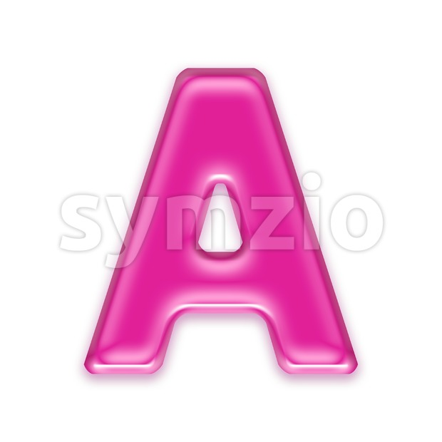 girly letter A - Capital 3d character Stock Photo