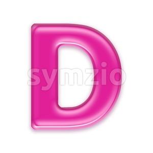 transparent pink font D - Capital 3d character Stock Photo