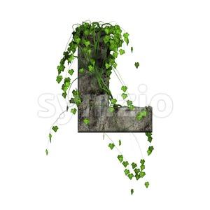 Ivy 3d font L - Capital 3d character Stock Photo