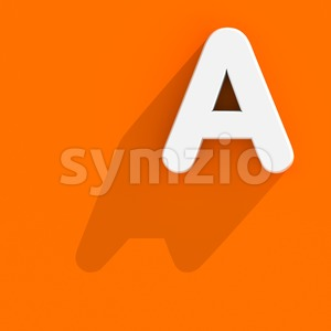 Flat design letter A - Capital 3d character Stock Photo