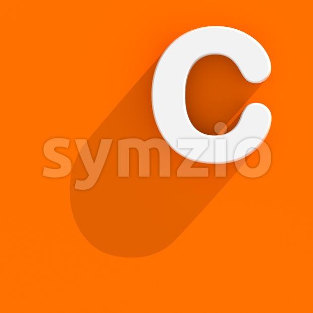 3d Flat design font C - Capital 3d letter Stock Photo