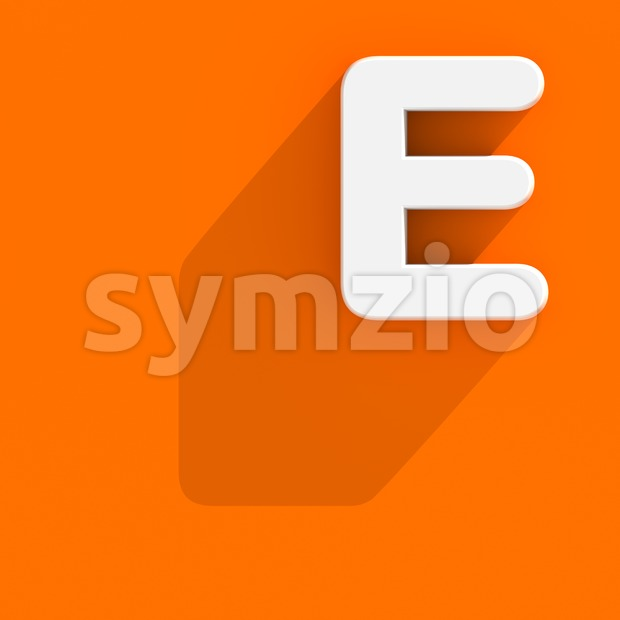 3d Capital character E with web design style - Upper-case 3d letter Stock Photo