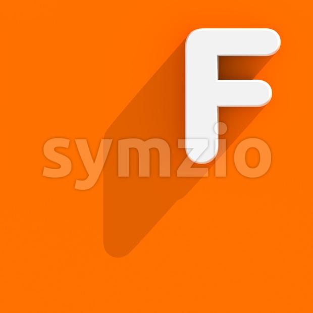 Flat design letter F - Upper-case 3d font Stock Photo