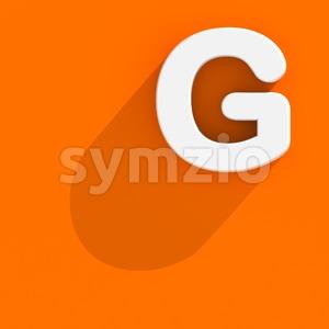 Upper-case Flat design character G - Capital 3d font Stock Photo