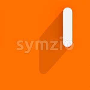 Uppercase web design font I - Capital 3d letter Stock Photo