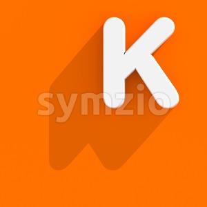 Uppercase Flat design letter K - Capital 3d font Stock Photo