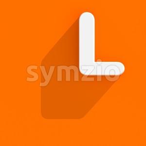 web design 3d font L - Capital 3d character Stock Photo