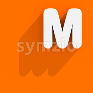 3d Capital character M with web design style - Upper-case 3d letter Stock Photo