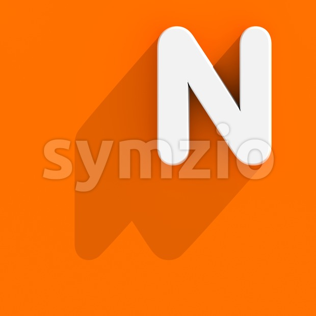 web design font N - Capital 3d letter Stock Photo